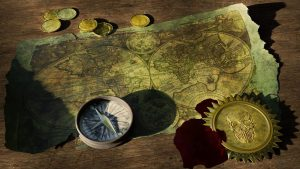 adventure, treasure map, old world map